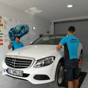 Mercedes detaylı boya kontrolü